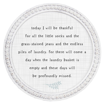 Today I Will Be - Beaded Round Wall Art