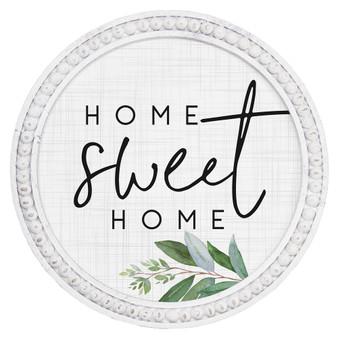 Home Sweet Home - Beaded Round Wall Art