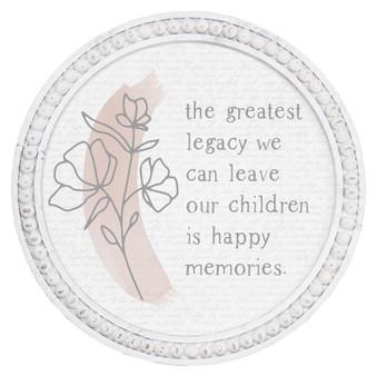 Greatest Legacy - Beaded Round Wall Art