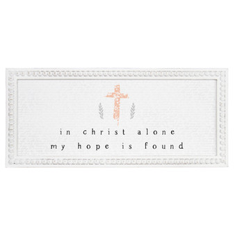 In Christ Alone - Beaded Rectangle Wall Art