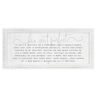 Love Isnt Perfect - Beaded Rectangle Wall Art