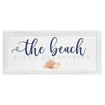 Beach Fixes Everything PER - Beaded Rectangle Wall Art