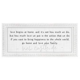 Love Begins At Home PER - Beaded Rectangle Wall Art