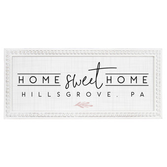 Home Sweet Home PER - Beaded Rectangle Wall Art