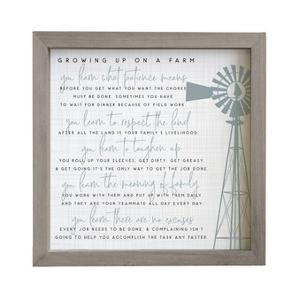 Growing Up Farm - Rustic Frame
