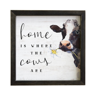 Home Cows - Rustic Frame