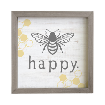 Bee Happy - Rustic Frame