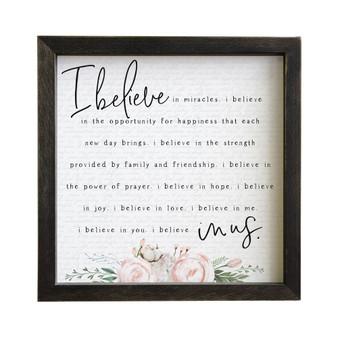 I Believe In Us - Rustic Frame