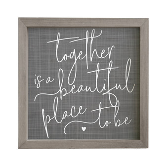 Together Beautiful Place - Rustic Frame