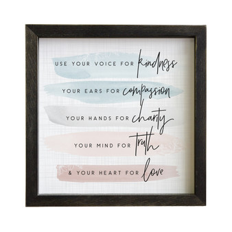 Use Your Voice - Rustic Frame