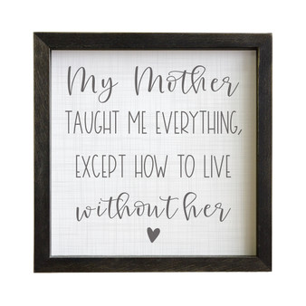 Live Without Her PER - Rustic Frame