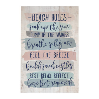 Beach Rules - Rustic Pallet