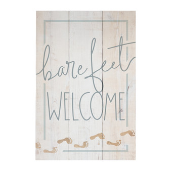 Bare Feet Welcome - Rustic Pallet