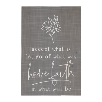 Accept What Is - Rustic Pallet