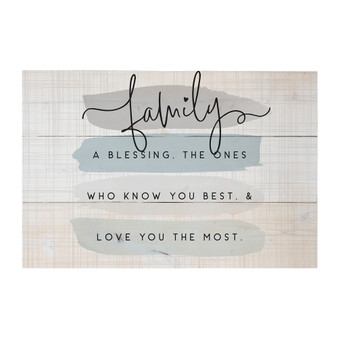 Family A Blessing - Rustic Pallet