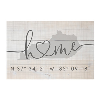 Home Heart Coordinates PER STATE - Rustic Pallet