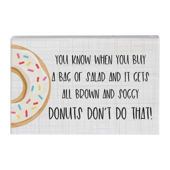Donuts Don't - Small Talk Rectangle