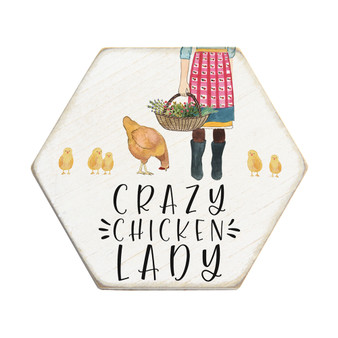Crazy Chicken Lady - Honeycomb Coasters