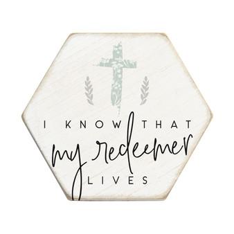 My Redeemer Lives - Honeycomb Coasters