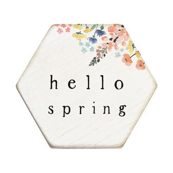 Hello Spring - Honeycomb Coasters