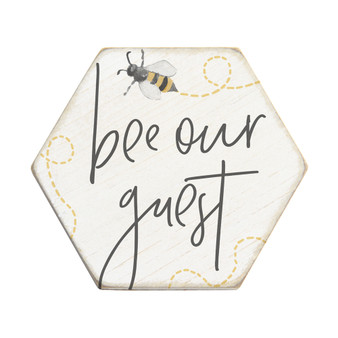 Bee Our Guest - Honeycomb Coasters