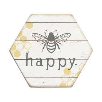 Bee Happy - Honeycomb Coasters