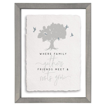 Where Family Gathers - Floating Frame Art