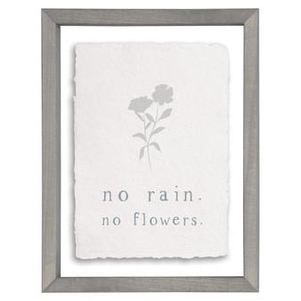 No Rain - Floating Frame Art