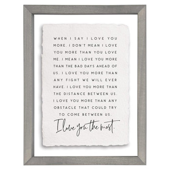 Love You The Most - Floating Frame Art