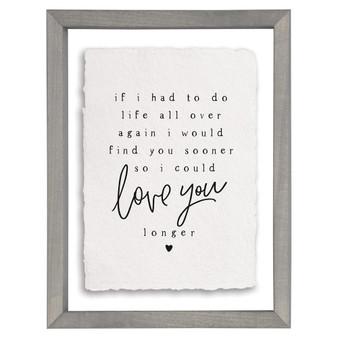 Love You Longer - Floating Frame Art