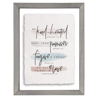 Be Kind Hearted - Floating Frame Art
