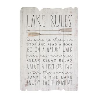 Lake Rules - Splendid Fence