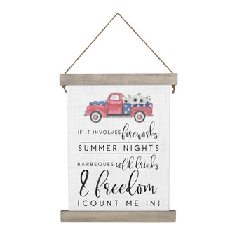 Summer Nights - Hanging Canvas