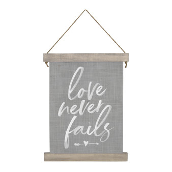 Love Never Fails - Hanging Canvas