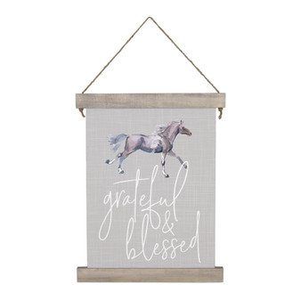Grateful & Blessed - Hanging Canvas