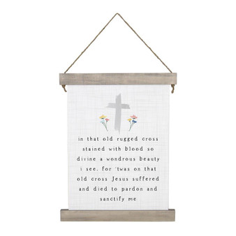 Old Rugged Cross - Hanging Canvas