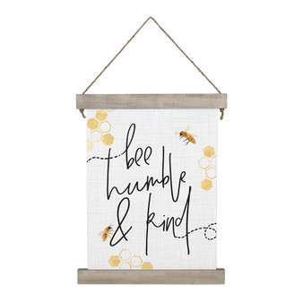 Bee Humble & Kind - Hanging Canvas