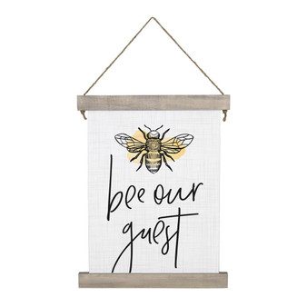 Bee Our Guest - Hanging Canvas