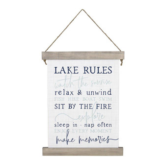 Lake Rules - Hanging Canvas