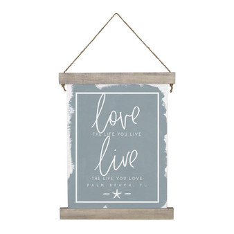 Love The Life PER - Hanging Canvas