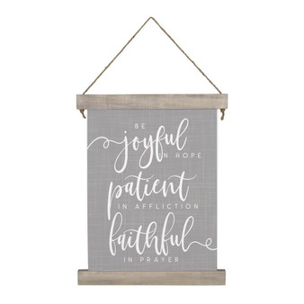Be Joyful - Hanging Canvas