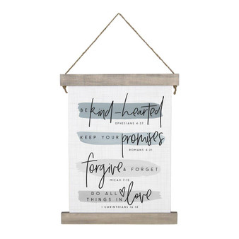 Be Kind Hearted - Hanging Canvas