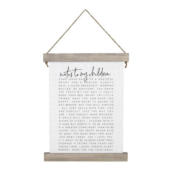 Notes To My Children - Hanging Canvas