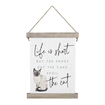 Spoil The Cat - Hanging Canvas