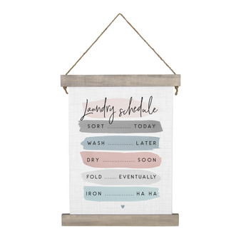 Laundry Schedule - Hanging Canvas