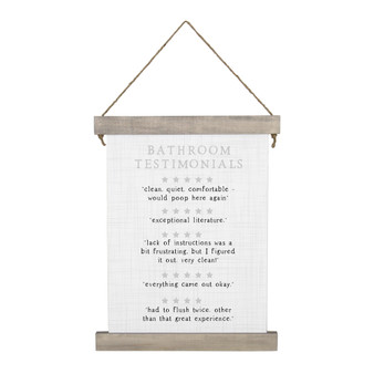 Bathroom Testimonials - Hanging Canvas