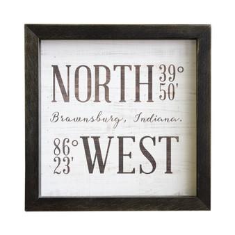 North West Coordinates PER - Rustic Frame
