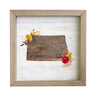State Floral STATE - Rustic Frame