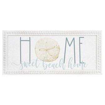 Home Sand Dollar - Beaded Rectangle Wall Art
