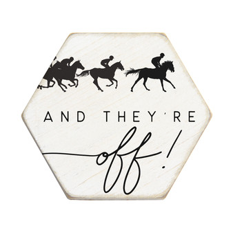 And Theyre Off - Honeycomb Coasters